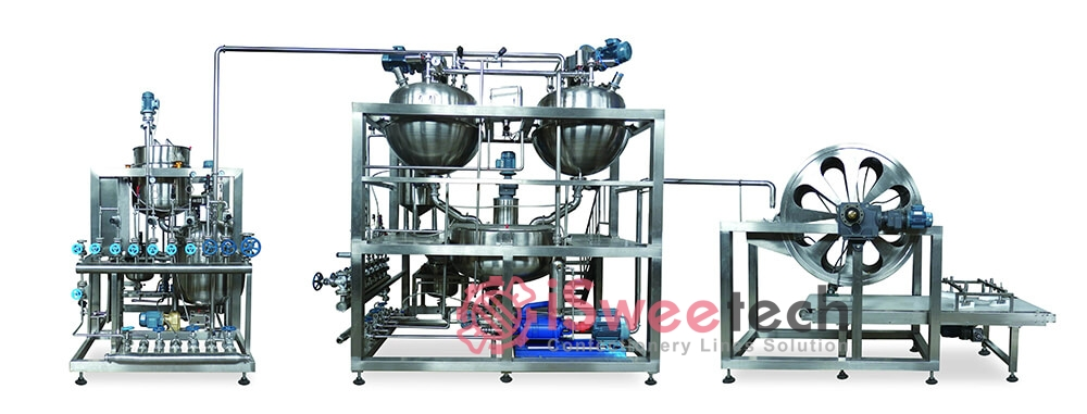 Automatic Toffee Cooking Equipments jinqiutoecap