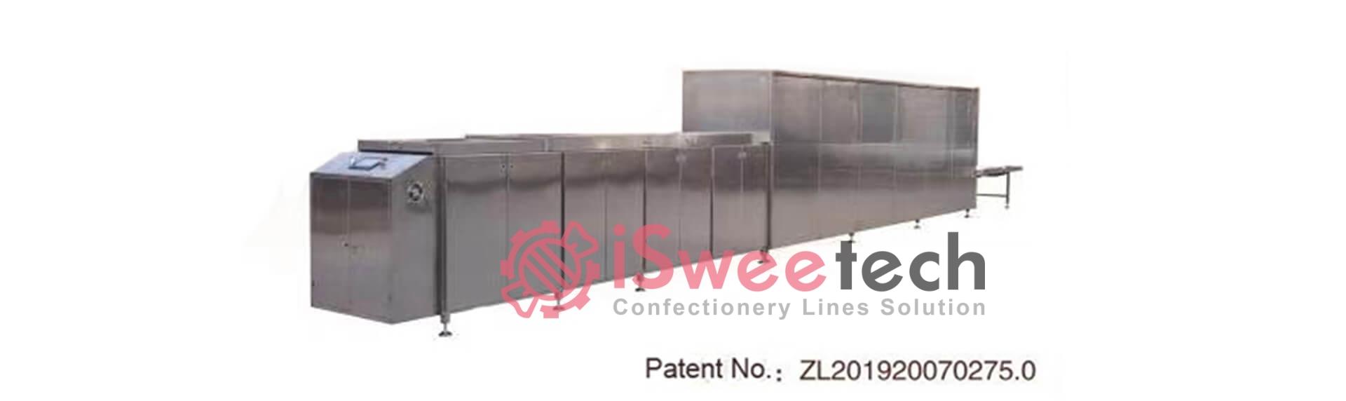 CBE200 Automatic Chocolate Biscuit Sticks Semi-Coating Line
