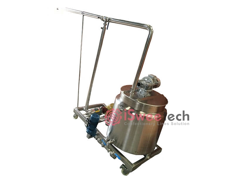 Fruit Jam/Chocolate Holding Tank And Pump, Pipes