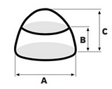Cone shape chocolate Dimensions