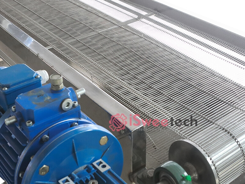 De starch mesh conveyor details