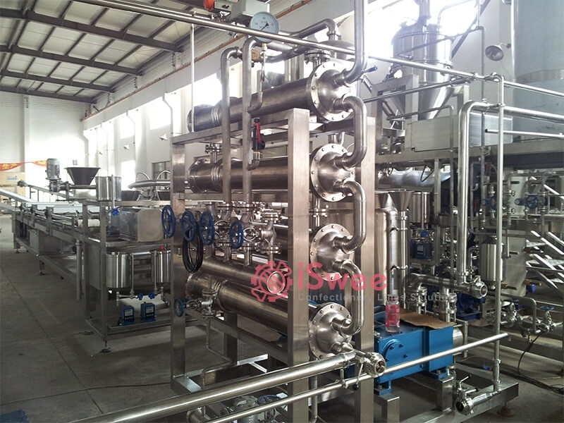 FCC Pipe cooking with flash vacuum chamber(FCC)