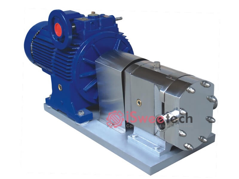 Lobe Pump With Jacked Warm-Keeping