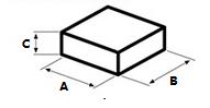 Rectagle shape chocolate Dimensions