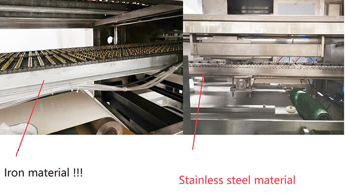 Iron material VS. Stainless steel material used in Jelly making machine
