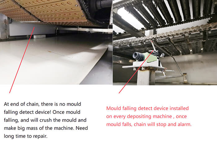 mould falling detect device
